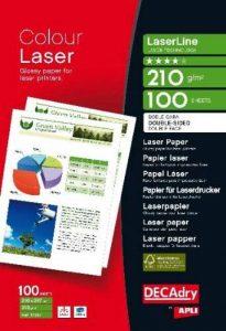 Apli 012367 Pack de 100 Feuilles de papier photo laser double face FSC A4 210 g Brillant de la marque Apli image 0 produit