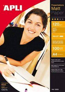 Apli 012626 Lot de 100 Papier de Présentation Mat 210 mm x 297 mm 120 g de la marque Apli image 0 produit