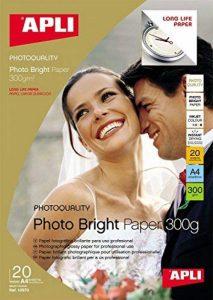 APLI Pochette 20 feuilles papier photo bright 210 x 297 mm de la marque Apli image 0 produit