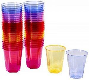 ARC-Gobelets jetables cristal - 250 ml-Lot de 50 gobelets en plastique gobelets en polystyrène de la marque drinkstuff image 0 produit