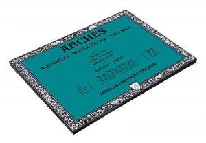 Arches Aquarelle Bloc 10 Feuilles 640 g Grain Fin 26 x 36 cm Blanc Naturel de la marque Arches image 0 produit
