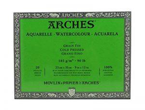 Arches Bloc Aquarelle Grain Fin 23 x 31 cm 185 g 20 Pages Naturel Blanc de la marque Arches image 0 produit