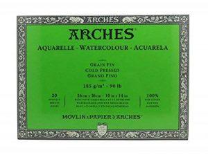 Arches Bloc Aquarelle Grain Fin 26 x 36 cm 185 g 20 Pages Naturel Blanc de la marque Arches image 0 produit