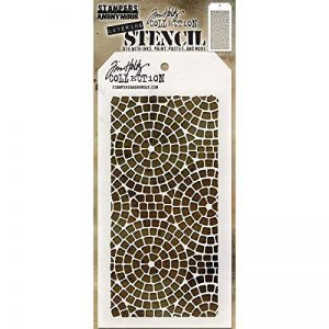 Art Gone Wild Tim Holtz Pochoir de mosaïque, Transparent de la marque Art Gone Wild image 0 produit