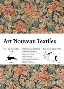 Art nouveau textiles, Volume 31 : 12 grandes feuilles de papiers cadeaux & créatifs de haute qualité de la marque Pepin Van Roojen image 0 produit
