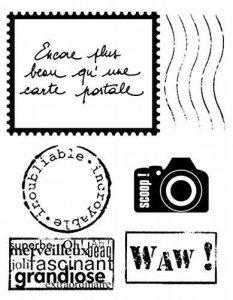 Artemio 10020035 Mini Tampon Transparent Carte Postal Plastique Multicolore 8,5 x 0,3 x 17 cm de la marque Artemio image 0 produit