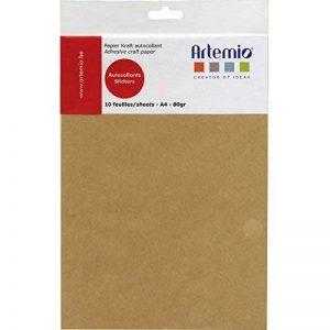 Artemio 13020035 Set de 10 Feuilles de Papier Adhésives A4 Kraft Papier Multicolore 21 x 0,5 x 32,70 cm de la marque Artemio image 0 produit