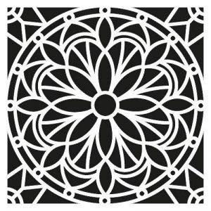Artemio Mandala Pochoir Home Déco, Plastique, Noir, 30,5 x 0,2 x 35 cm de la marque Artemio image 0 produit