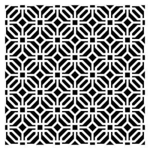 Artemio Moucharabieh Pochoir Home Déco, Plastique, Noir, 30,5 x 0,2 x 35 cm de la marque Artemio image 0 produit