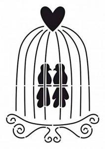 Artemio Pochoir A4 Cage à Oiseaux de la marque Artemio image 0 produit