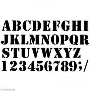 Artemio Pochoir Home Déco-Alphabet Industriel, Plastique, Noir, 25 x 0,2 x 42 cm de la marque Artemio image 0 produit