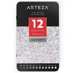 Arteza Crayon Pour Dessin Professionnel, Set Crayons Papier Pour Croquis, Moyen, Boite Métal (Lot de 12) de la marque ARTEZA® image 1 produit