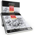 Arteza Croquis Des Livres, Papier a Dessin, Sketch Book - Pad 22.9 x 30.5 CM de la marque ARTEZA® image 1 produit