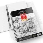Arteza Croquis Des Livres, Papier a Dessin, Sketch Book - Pad 22.9 x 30.5 CM de la marque ARTEZA® image 3 produit