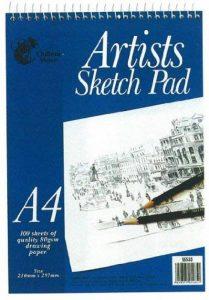 Artistes croquis Format A4Pad à spirales-100feuilles (297x 210mm) de la marque Chiltern Wove image 0 produit