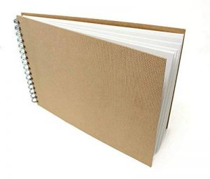 Artway Enviro - Carnet à dessin avec reliure double spirale et couverture rigide - 100 % papier cartouche recyclé - 170 g/m² - 35 pages - A4 paysage de la marque Artway image 0 produit