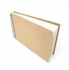 Artway Enviro - Carnet à dessin avec reliure double spirale et couverture rigide - 100 % papier cartouche recyclé - 170 g/m² - 35 pages - A5 paysage de la marque Artway image 0 produit