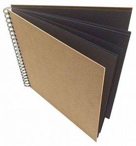 Artway Enviro - Carnet à dessin - grandes feuilles carrées/cartonnées/noires - 100 % papier recyclé - 270 g/m² - 285 x 285 mm - 30 feuilles de la marque Artway image 0 produit