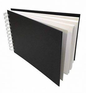 Artway Studio - Carnet à dessin avec reliure double spirale et couverture rigide - papier cartouche sans acide - 170 g/m² - 48 feuilles - A5 paysage de la marque Artway image 0 produit