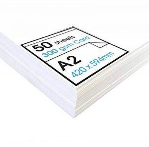 Artway Studio - Cartes blanches - hautes - idéales pour présentation/affichage - 300 g/m² - A3 - 100 feuilles de la marque Artway image 0 produit