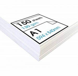 Artway Studio - Papier cartouche à dessin - sans acide - feuilles parfaites pour techniques sèches - 130 g/m² - A1 (150 feuilles) de la marque Artway image 0 produit
