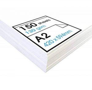 Artway Studio - Papier cartouche à dessin - sans acide - feuilles parfaites pour techniques sèches - 130 g/m² - A2 (150 feuilles) de la marque Artway image 0 produit