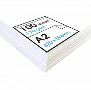 Artway Studio - Papier cartouche à dessin - sans acide - feuilles parfaites pour techniques sèches - 170 g/m² - A2 de la marque Artway image 0 produit