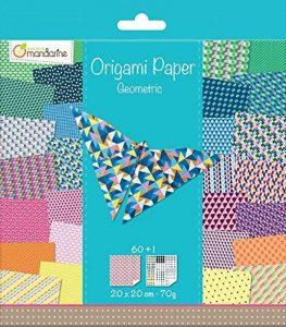 Avenue Mandarine 52501MD Une pochette Origami Paper Géométrique - 20 x 20 cm - 60 Feuilles - 70 g de la marque Avenue Mandarine image 0 produit