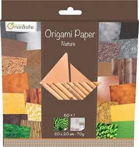 Avenue Mandarine 52503MD Une pochette Origami Paper Nature - 20 x 20 cm - 60 Feuilles - 70 g de la marque Avenue Mandarine image 0 produit
