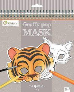 Avenue Mandarine carnet de Coloriage masque -Graffy Pop Mask de la marque Avenue Mandarine image 0 produit