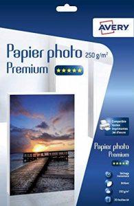 Avery 20 Feuilles de Papier Photo Premium 250g/m² A4 - Impression Jet d'encre - Brillant - Blanc (2555) de la marque Avery image 0 produit