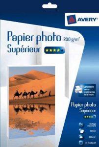 Avery 25 Feuilles de Papier Photo 200g/m² A4 - Impression Jet d'Encre - Brillant - Brillant (C9434) de la marque Avery image 0 produit