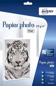 Avery - 2585-20 Feuilles de Papier Photo Premium 170 g/m² A4 - Impression Jet d'Encre - Mat - Blanc de la marque Avery image 0 produit
