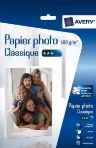 Avery 40 Feuilles de Papier Photo 180g/m² A4 - Impression Jet d'Encre - Brillant - Blanc (2741) de la marque Avery image 0 produit