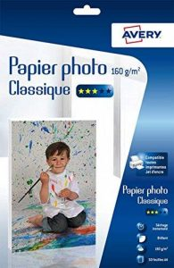 Avery 50 Feuilles de Papier Photo 160g/m² A4 - Impression Jet d'Encre - Brillant - Blanc (C9431) de la marque Avery image 0 produit