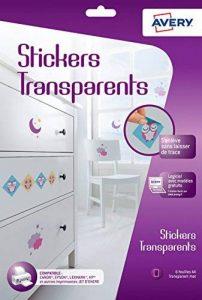 Avery 6 Stickers Transparents - A4 - Impression Jet d'encre - (C9421) de la marque Avery image 0 produit
