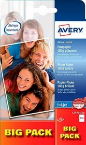 Avery Dennison Classic / C2570-100 Papier photo pour impression jet d'encre 10 x 15 / 180g Brillant 100 feuilles (Import Allemagne) de la marque Avery image 0 produit
