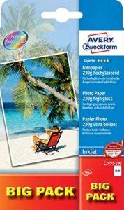 Avery Dennison Superior / C2495-100 Papier photo pour impression jet d'encre 10 x 15 / 230g Brillant 100 feuilles (Import Allemagne) de la marque Avery image 0 produit