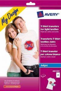 Avery T-Shirt Transfert Stickers pour textiles clairs (Lot de 5) de la marque Avery image 0 produit