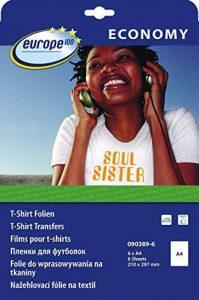Avery Zweckform 090389-6 e100 Papier pour transfert T-Shirt A4 6 feuilles (Import Allemagne) de la marque Avery image 0 produit