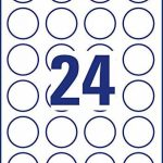 Avery Zweckform 5080Étiquettes (A4, 240étiquettes à confiture rond, résidus, Ø 40mm) 10feuilles Blanc de la marque Avery image 3 produit