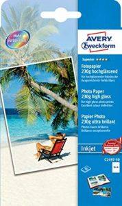 Avery Zweckform C2497-50 Ramette de 50 feuilles de papier photo Superior pour impression jet d'encre 10 x 15 cm 230 g/m² (Brillant) (Import Allemagne) de la marque Avery image 0 produit