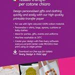 Avery Zweckform MD1001 Paquet de 5 feuilles A4 de transferts pour t-shirt à textile clair (Import Allemagne) de la marque Avery image 1 produit