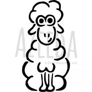 Azeeda A3 'Mouton' pochoir mural (WS00008345) de la marque Azeeda image 0 produit