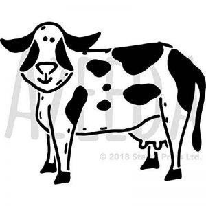 Azeeda A4 'Vache' pochoir mural (WS00035075) de la marque Azeeda image 0 produit