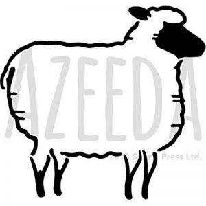Azeeda A5 'Mouton' pochoir mural (WS00035488) de la marque Azeeda image 0 produit