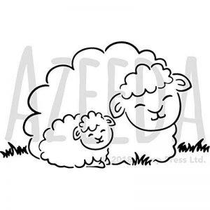 Azeeda A5 'Mouton Somnolent' pochoir mural (WS00009857) de la marque Azeeda image 0 produit