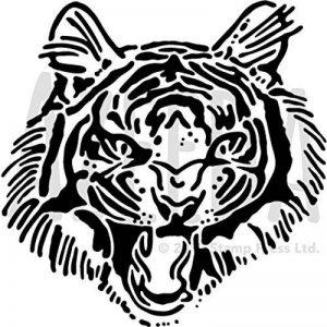 Azeeda A5 'Tigre Rugir' Pochoir Mural (WS00029784) de la marque Azeeda image 0 produit