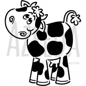 Azeeda A5 'Vache Mignonne' pochoir mural (WS00027144) de la marque Azeeda image 0 produit