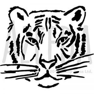 Azeeda A5 'Visage de Tigre' pochoir mural (WS00029920) de la marque Azeeda image 0 produit